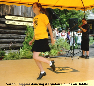 Sarah Chippior dancing & Lyndon Coulas on  fiddle