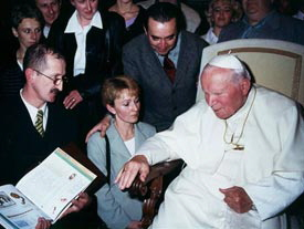 Katarzena & Witold receives interest and the blessing of the Pope