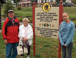 The sign in the Wilno Heritage Park is written in Kashub as well as English