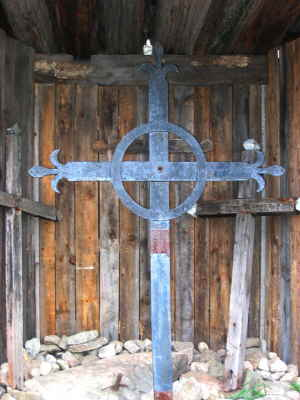 Cross in Scooped Roof Shelter